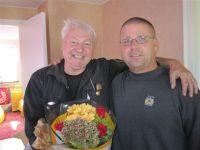 Sven tillsammans med arbetsledare Robert Dyk. De två har jobbat över trettio årtillsammans.