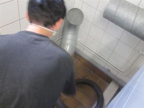 Rensning av tvättstuga.
