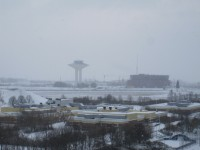 Hyllie vattentorn och Percys hockey-arena.