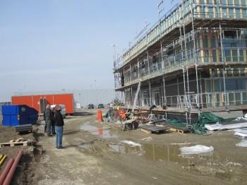 Fasadarbeten inspekteras