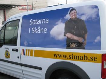 SIMAB, Sotarna i Skåne