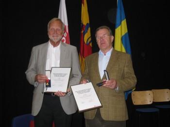 Lars Berg och Kjell Dyberg mottagare av Brandskyddsföreningens förtjänstmedalj i guld