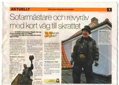 SIMAB:s Per Wulff i Lokaltidningen. Klicka för större bild.