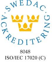 Ackrediteringsmärke 8048 SIMAB