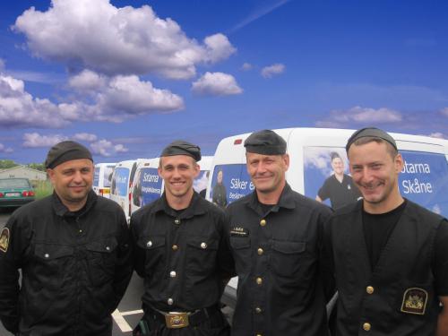 En kvartett Trelleborgare och SIMAB-sotare.